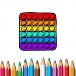 Pop It Coloring Book
